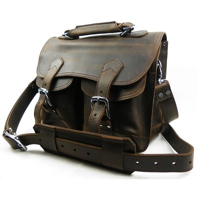 Vagabond Traveler Leather Laptop Messenger Bag