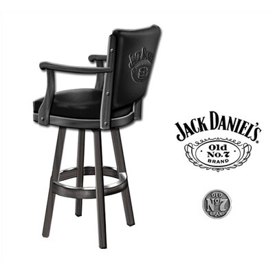 "Jack Daniel's Lifestyle Products Jack Daniel's 30.25"" Swivel Bar Stool"