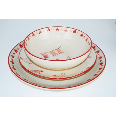 Barnyard 18 Piece Dinnerware Set