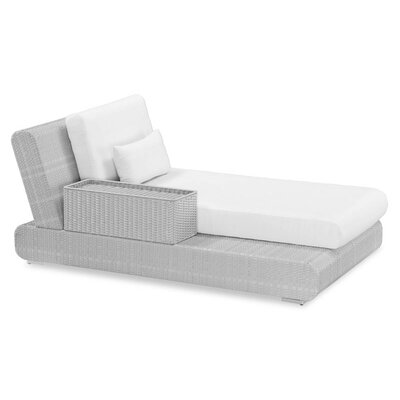 100 Essentials Sumba Lounge Bed Sectional Piece with Cushions