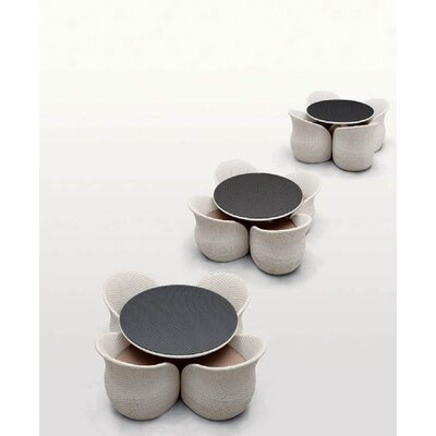 100 Essentials Circle 5 Piece Dining Set