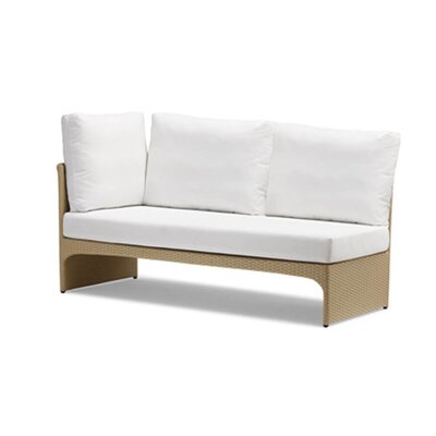100 Essentials Cerise Right Corner Sectional Piece with Cushions