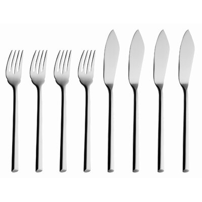 Laura 8 Piece Fish Flatware Set