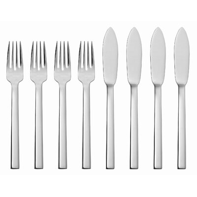 Maya 8 Piece Fish Flatware Set