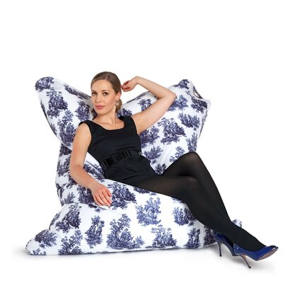 Sitting Bull Fashion Bull Toile De Jouy Bean Bag Lounger
