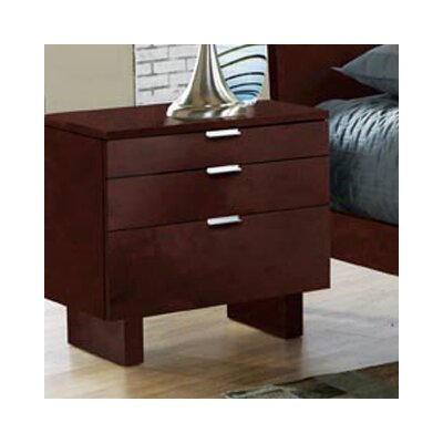 Brazil Furniture Group Violet 3 Drawer Nightstand