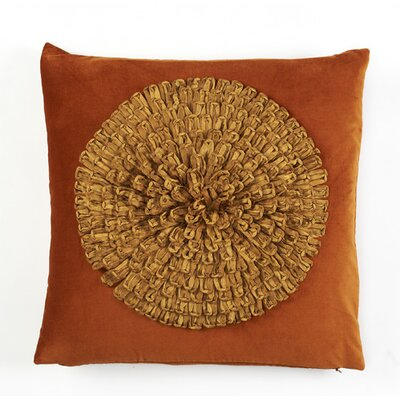 Stratford Velvet Dahlia Cotton Pillow