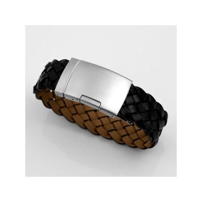 Sticky Jewelry Braided Italian Leather Bracelet