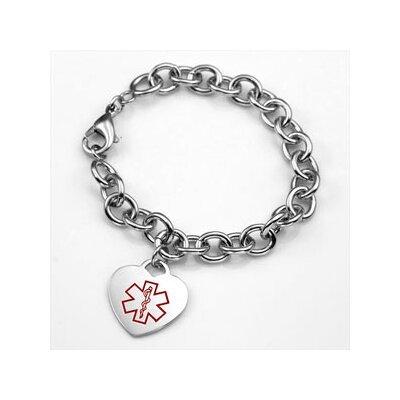 Diabetes Medical Heart Link Bracelet