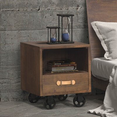 Zuo Era Oaktown 1 Drawer Nightstand