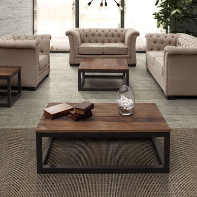 Zuo Era Civic Center Rectangular Coffee Table Set