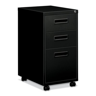 "Basyx by HON Embark Series Mobile Box/Box/File Pedestal File with ""M"" Pull Drawers"