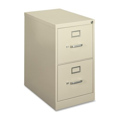 Basyx by HON H410 Series Two-Drawer Locking Vertical File, 15W X 22D X 26-1/16H