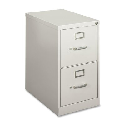 Basyx by HON Vertical File,2-Drawer, Letter, Gray