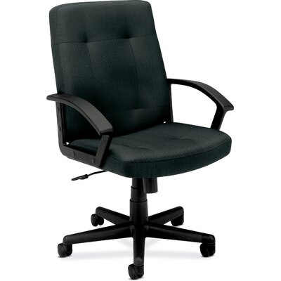 Basyx by HON VL602 Series Mid-Back Chair with Loop Arms