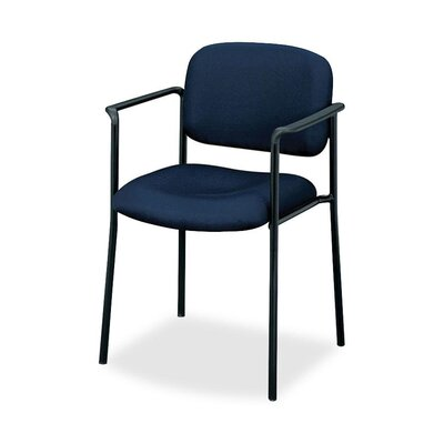 Basyx by HON Four-High Stacking Fabric Chair with Leg Base