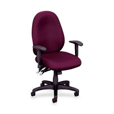 Basyx by HON Mid-Back High Performance Task Chair with Adjustable Arms