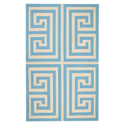 Trina Turk Residential Greek Key Blue Rug