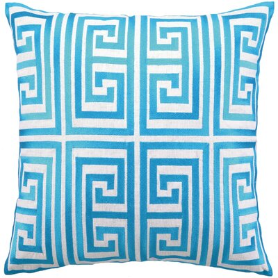 Greek Key Linen Pillow