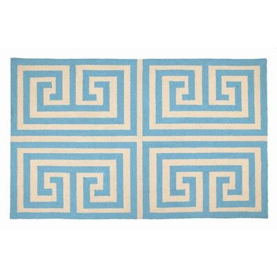 Greek Key Blue Rug