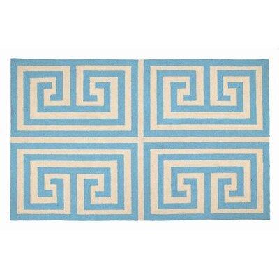 Trina Turk Residential Greek Key Blue Rug