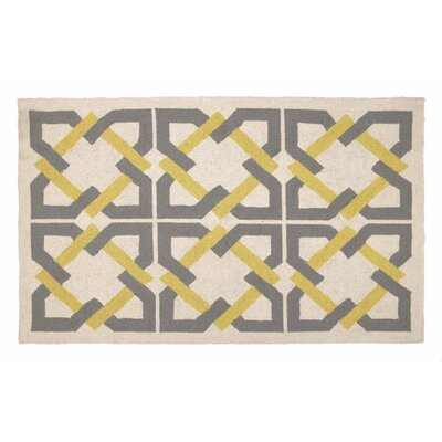 Trina Turk Residential Geometric Tile Yellow/Grey Rug