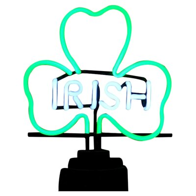 Neonetics Irish Shamrock Neon Sculpture