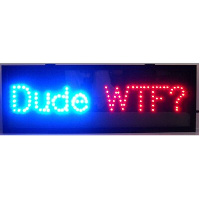 Neonetics Dude Led Sign