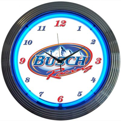 Neonetics Busch Racing Neon Clock