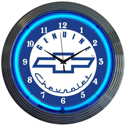 Genuine Chevrolet Neon Clock