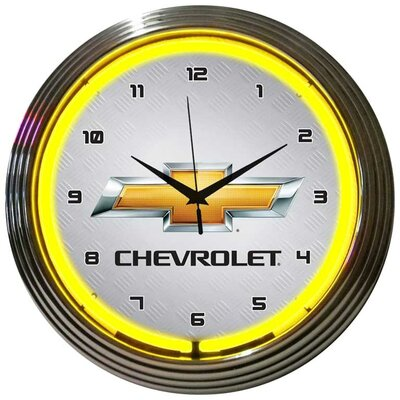 Neonetics Gm Chevrolet Yellow Neon Clock