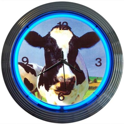 Retro Cow Neon Clock