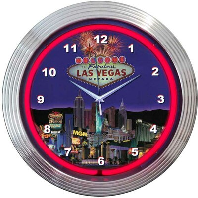 "Neonetics Bar and Game Room 15"" Vegas Wall Clock"