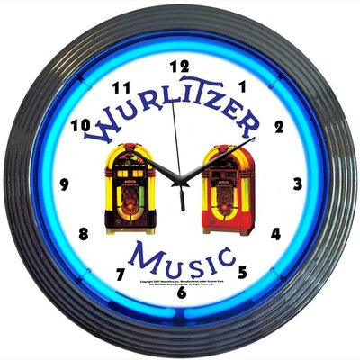 Neonetics Wurlitzer Jukebox Neon Clock