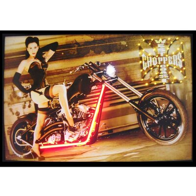 Neonetics West Coast Choppers Girl Neon LED Poster Sign