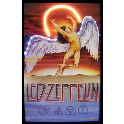 Neonetics Bar and Game Room Led Zeppelin Neon LED Poster