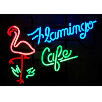 Neonetics Flamingo Cafe Neon Sign