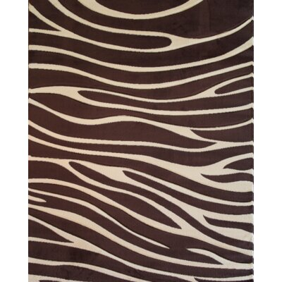 Melody Brown Zebra Animal Print Rug