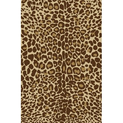 Kings Court Gold Leopard Animal Print Rug
