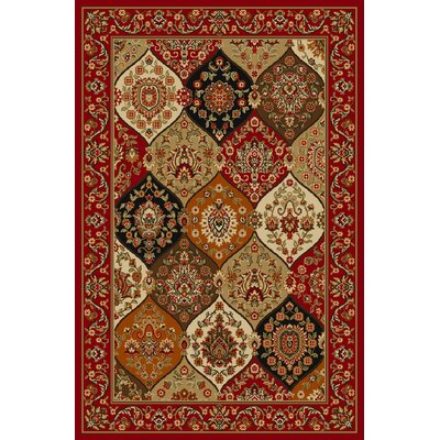 Infinity Home Kings Court Red Persian Vines Rug
