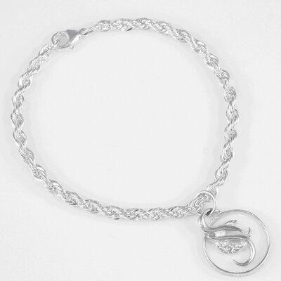Cancer Survivor Small Sterling Silver Pendant Bracelet by CaSu Design