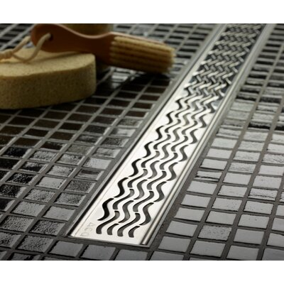 "QuARTz by ACO 46.7"" Wavy Bathroom Linear Shower Drain"