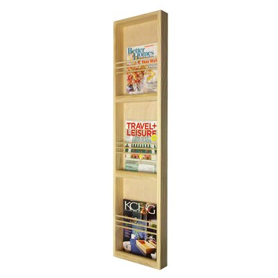 WG Wood Products On the Wall Triple Magazine Rack