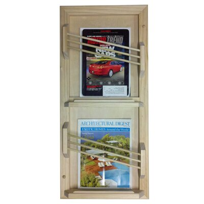 WG Wood Products Double Contemporary Magazine Rack
