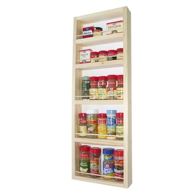 "WG Wood Products 30"" On The Wall Spice Rack"