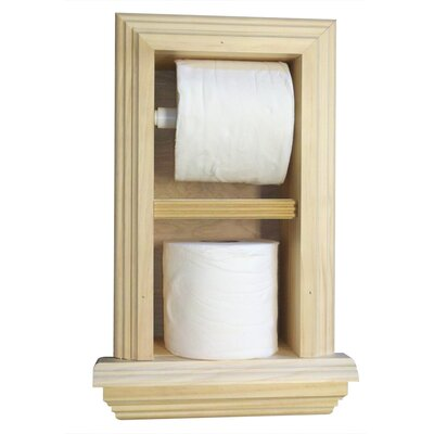 WG Wood Products Recessed Toilet Paper Holder with Ledge