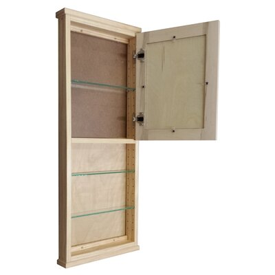 "WG Wood Products Shaker Series 15.25"" x 37.5"" Surface Mount Medicine Cabinet"