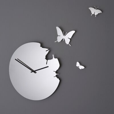 Butterfly Mirror Wall Clock