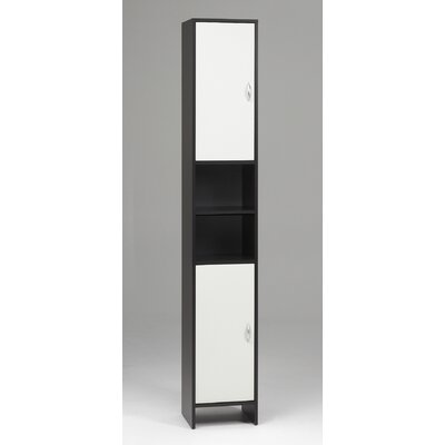 Tvilum Oceana Tall Two Door, Two Shelf Bathroom Cabinet