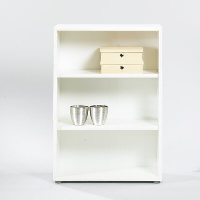 Fairfax Short Wide Bookcase in White